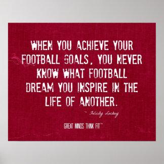 Cita inspirada y poster del fútbol