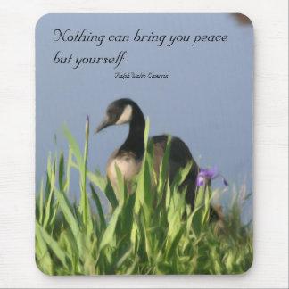 Cita interna Mousepad de la paz del ganso de Canad