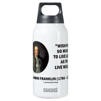 Cita larga viva del deseo de Benjamin Franklin no