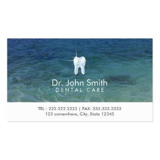 Cita limpia de la agua de mar del cuidado dental tarjetas de visita