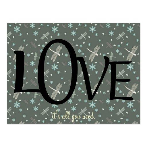 Cita linda del amor postales