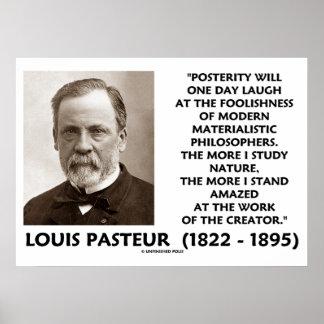 Cita materialista de Pasteur de los filósofos de l