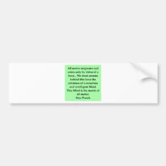 cita máxima del tablón etiqueta de parachoque
