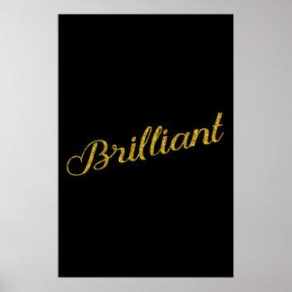 Cita metálica de las lentejuelas brillo brillante póster