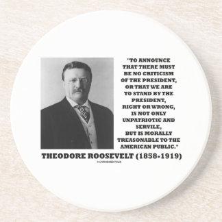 Cita moral traidora de Theodore Roosevelt Posavaso Para Bebida