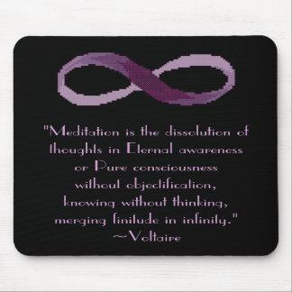 Cita Mousepad de la meditación de Voltaire Alfombrilla De Raton