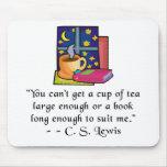 Cita Mousepad del té y de los libros w Tapetes De Raton