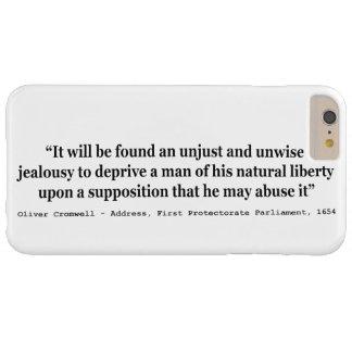 Cita natural 1654 de Oliver Cromwell de la Funda De iPhone 6 Plus Barely There