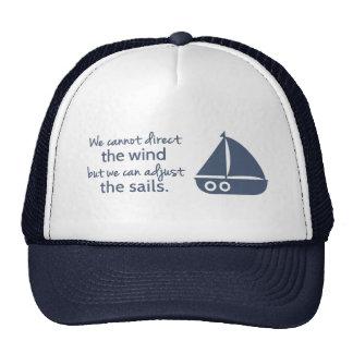 Cita náutica del modo de pensar de la positividad gorro