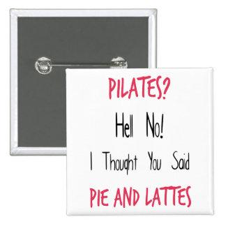 Cita, negro y rosa divertidos de Pilates Pin