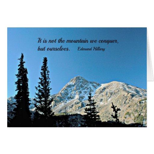 Cita: No es la montaña que conquistamos… Tarjeta De Felicitación
