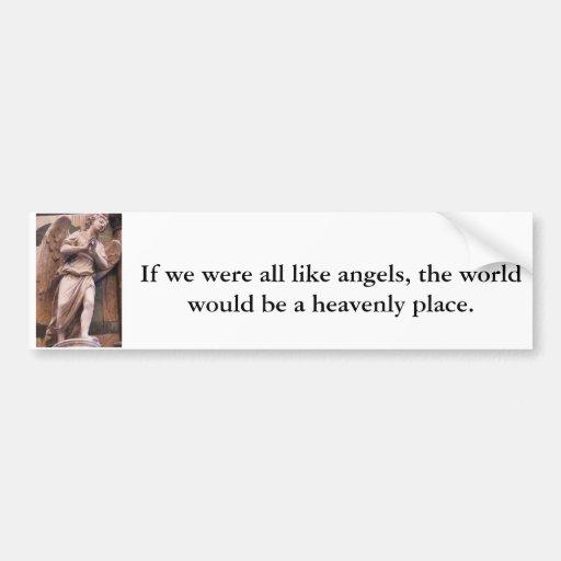Cita pacífica de la CITA del ángel del renacimient Pegatina Para Auto