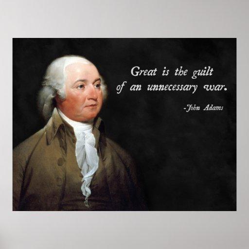 Cita pacifista de John Adams Póster