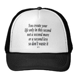 Cita para crear su vida gorras