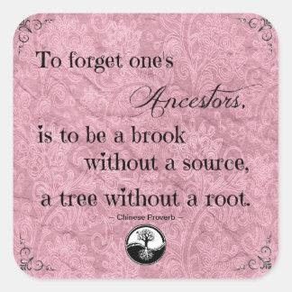 Cita para olvidar a su pegatina de los antepasados