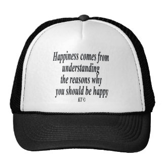 Cita para razonar y la felicidad gorras de camionero