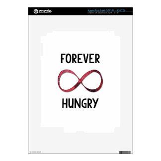 Cita para siempre hambrienta de la muestra del iPad 3 pegatinas skins