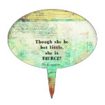 Cita pequeña y feroz de Shakespeare Figuras De Tarta