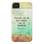 Cita pequeña y feroz de Shakespeare iPhone 4 Carcasa