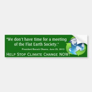 Cita plana de Obama de la sociedad de la tierra en Pegatina Para Auto