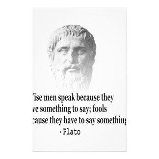 Cita por Platón Papeleria