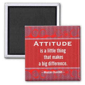 Cita positiva de la Actitud-Churchill - motivación Imán Cuadrado