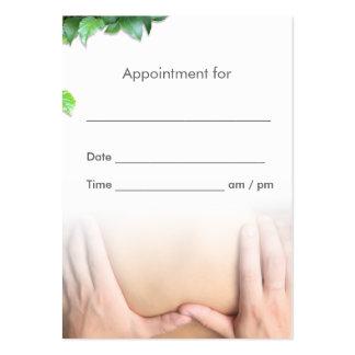 Cita profesional del salón de la terapia del tarjetas de visita grandes