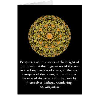 Cita profunda por St Augustine Tarjeta De Felicitación