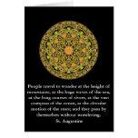 Cita profunda por St Augustine Tarjeton