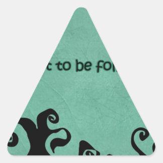cita que inspira pegatina triangular