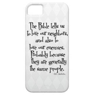 Cita religiosa cristiana divertida GK Chesterton iPhone 5 Case-Mate Coberturas