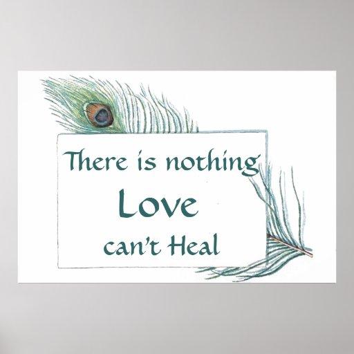 Cita retra del amor de la pluma del pavo real del  poster