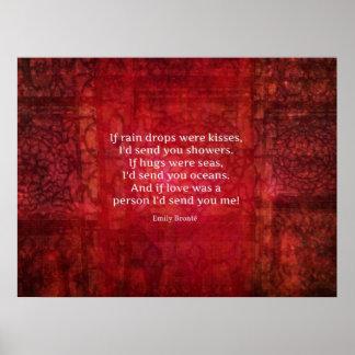 Cita romántica caprichosa de Emily Bronte Poster