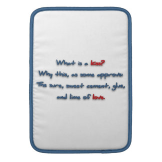 ¿Cita romántica - cuál es un beso? Porqué esto, Fundas MacBook
