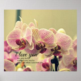 Cita romántica de la inspiración poster