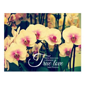 Cita romántica de la inspiración tarjeta postal