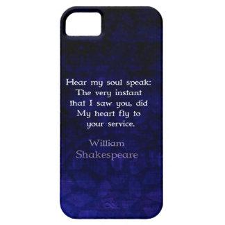 Cita romántica del amor de William Shakespeare iPhone 5 Case-Mate Cárcasa