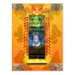 Cita romántica del AMOR de William Shakespeare Postal