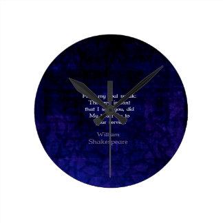Cita romántica del amor de William Shakespeare Reloj