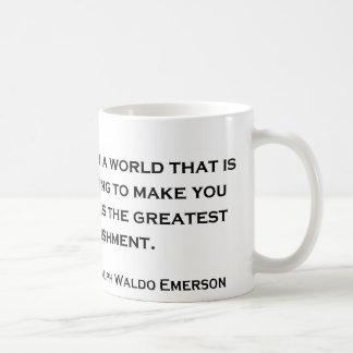 Cita sabia de Ralph Waldo Emerson Taza De Café