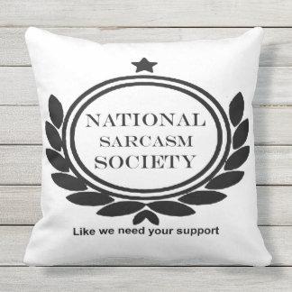Cita sarcástica del sarcasmo de la diversión cojín