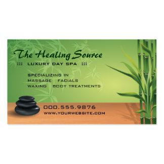 Cita serena del masaje y del balneario tarjetas de visita