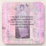 Cita snarky chistosa de Jane Austen Posavaso