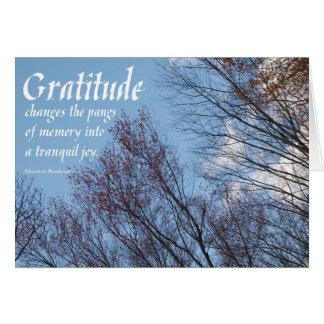 Cita sobercards.com de Bonhoeffer de la gratitud Tarjeta De Felicitación