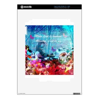 Cita sobre felicidad en francés calcomanía para el iPad 2