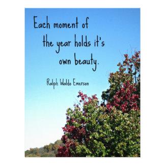 Cita sobre la naturaleza por Emerson. Membrete