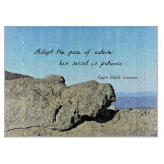 Cita sobre la naturaleza y la paciencia, por R.W. Tabla De Cortar