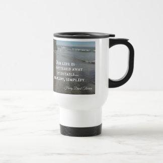 Cita sobre vida simplifing tazas de café