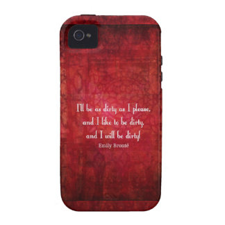 Cita sucia del chica de Emily Bronte Case-Mate iPhone 4 Carcasa