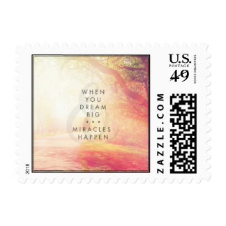 Cita tipográfica inspirada - cuando usted soña timbres postales